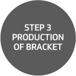 Step 3: Production of bracket